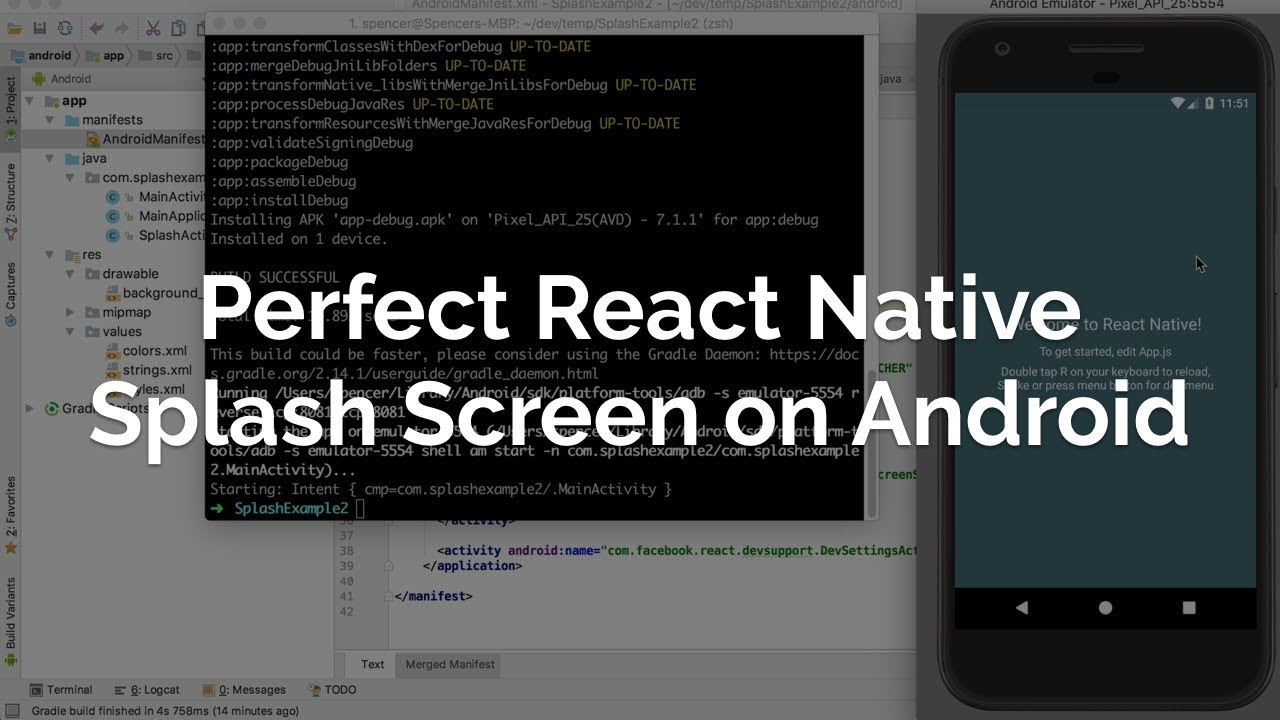 How to Add a Splash Screen to a React Native App (iOS and