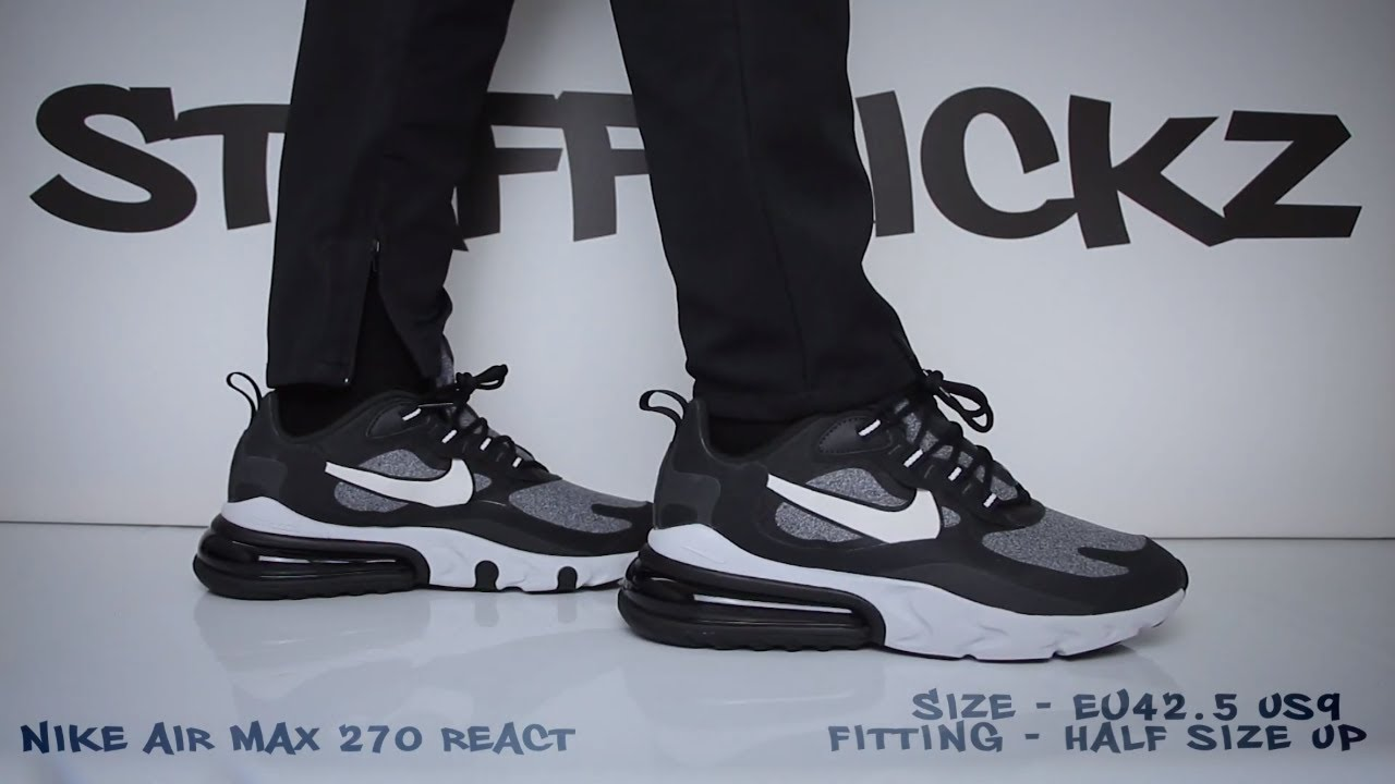 Nike Air Max 270 React Black Review Unboxing On Feet