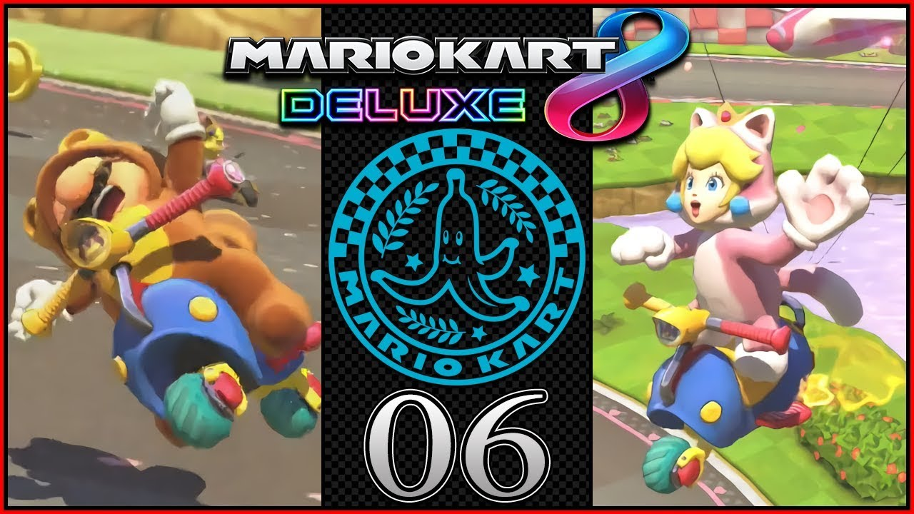 tanooki mario vs cat peach 200cc mario kart 8 deluxe grand prix banana cup part 6. Black Bedroom Furniture Sets. Home Design Ideas