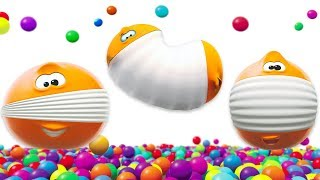 SQUISHY BALLS Learn Colors With Funny Balls Kids Shows WonderBalls For Children
