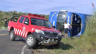 Falleció uno de los pasajeros del vuelco de Andesmar