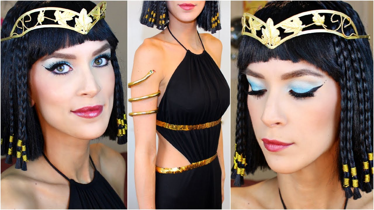 Cleopatra halloween costume makeup tutorial youtube cleopatra halloween costume makeup tutorial baditri Gallery