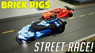 MULTIPLAYER STREET RACE CHALLENGE! - Brick Rigs Multiplayer Gameplay