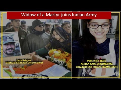 Wife Of Army Martyr Joins Indian Army - Journey Of Nitika Dhoundiyal