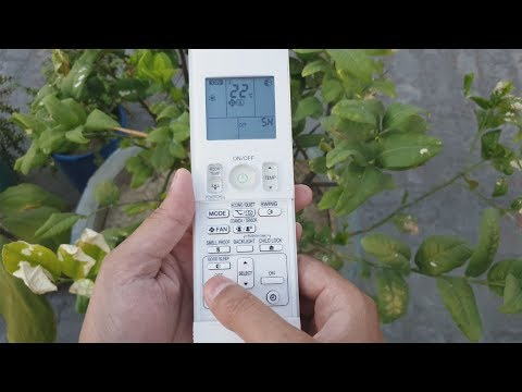 Daikin Inverter Air Conditioner Remote Control Functions || How To Use Ac Remote ||