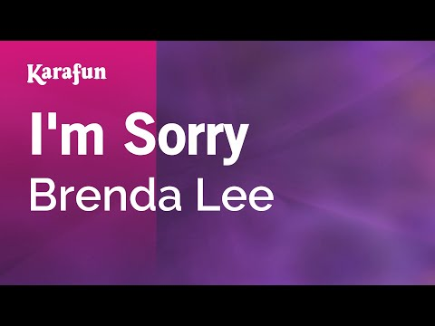 Karaoke I'm Sorry - Brenda Lee *