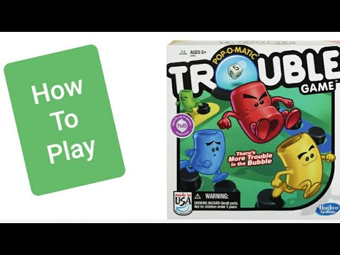 How To Play Trouble Board Game With Double Trouble And Warp Youtube