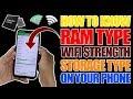 DIY, 5 Hidden Secrets of Your Phone, RAM Speed, Storage Type, Wifi Strength, Camera Sensor