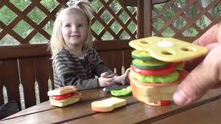 Видео для детей: Пикник на природе . РАСПАКОВКА набора для БЕБИ БОНА