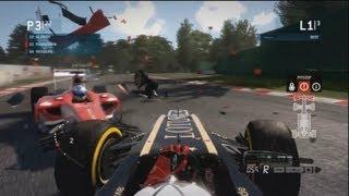 F1 2013 Game - MASSIVE CRASH!