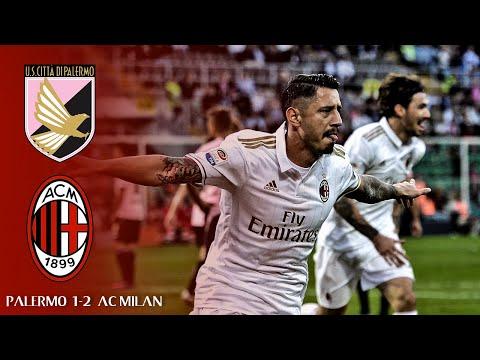 PALERMO vs AC MILAN (1-2)  -  All Goals &...