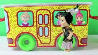 Maşa Dora Otobüs ile Piknik Yapmaya Gidiyor Cadı Otobüsü Nereye Götürüyor? Maşa Çizgi Film