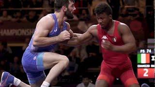 Чемпионат Европы 2018 вольная борьба 74 kg 1 4 Хетик Цаболов RUS vs Франк Чамизо ITA Каспийск
