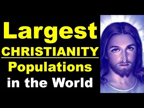 TOP 10 CHRISTIAN Largest Country   In The World In Population Wise