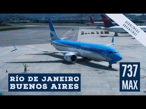 737 Max 8 Aerolíneas Argentinas Río de Janeiro (GIG) - Buenos Aires (AEP)