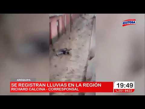 Arequipa   Se registran torrenciales lluvias en la región
