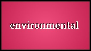 Environmental Meaning