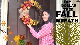 DOLLAR TREE FALL WREATH DIY