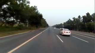 Islamabad to Lahore on Motorcycle via Motorway in HD - Part 6 of 7