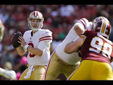 CJ Beathard vs Redskins (NFL Week 6) - Gritty First Start! | 2017-18 NFL Highlights HD