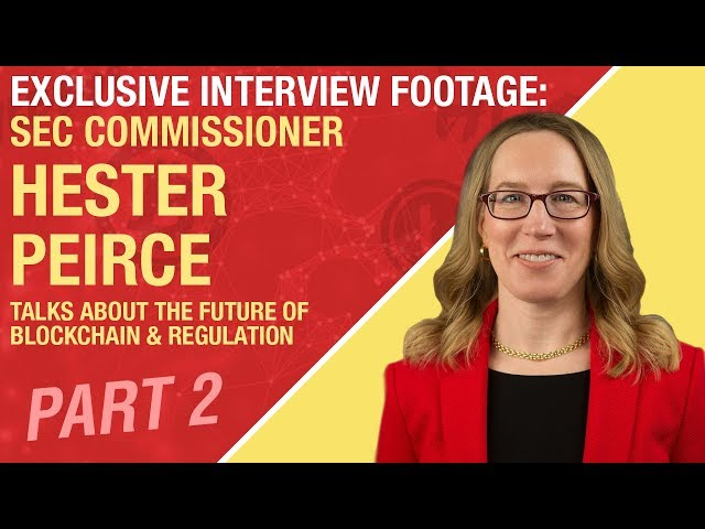PART 2: Exclusive Interview Footage w/ SEC Commissioner Hester Peirce - Regulation & Blockchain