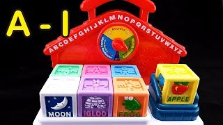 😀Go Grow Fun😀 EP39 Learning Alphabet & Words with Talking Block (A to I)