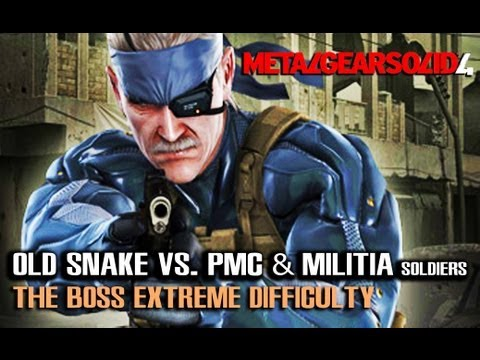 How MGS Should Be Played - MGS4: Old Snake VS PMC & Militia Soldiers (Extreme) - PythonSelkan