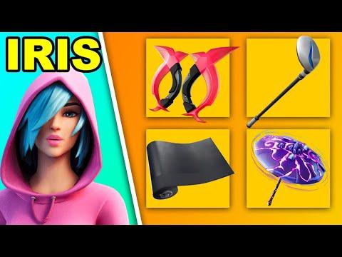 Iris Best Combos + Gameplay | Fortnite Back Bling Combos