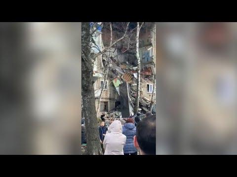 Обрушение квартир в жилом доме после взрыва газа в Орехово-Зуеве — видео