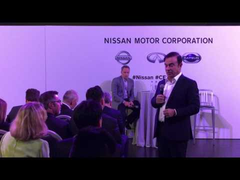 #Nissan #Infiniti #Renault #CEO Carlos Ghosn answering questions Consumer Electronics Show #CES2017