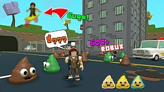 ROBLOX - 💩 Poop Scooping Simulator จำลองการเก็บขี้แบบเทพทรู!!? ขี่สเก็ตดูดขี้?!500Robux