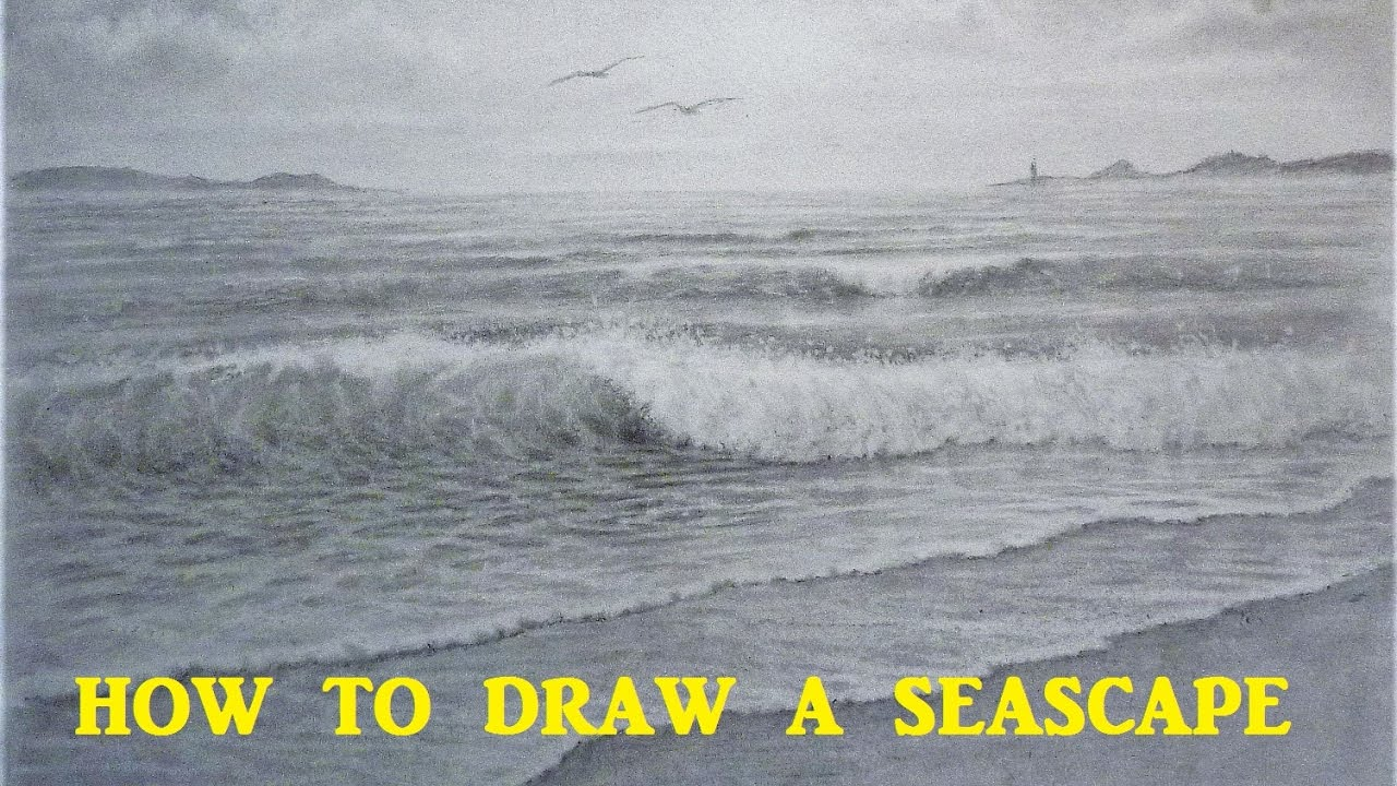 How to draw a seascape waves skies graphite pencil tutorial how to draw a seascape waves skies graphite pencil tutorial youtube ccuart Gallery