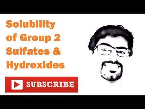 Explaining Solubility Of Group 2 Sulfates & Hydroxides : Part 1