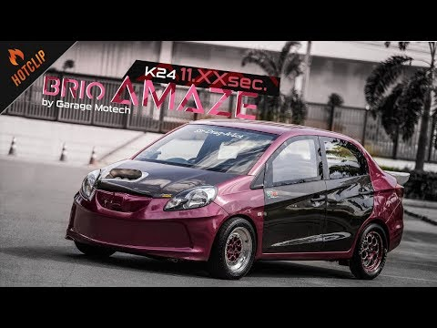 Honda Brio Amaze ตัวซิ่งพิกัด 11.xxSec. จาก อู่โมดิฟายชื่อดัง Garage Motech By BoxzaRacing.com