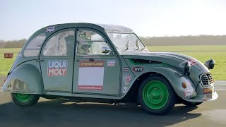 Chris Harris Lap: Citroen 2cv | Extra Gear | Bbc