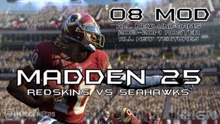 Madden 25 (Madden 08 PC Mod) Redskins at Seahawks