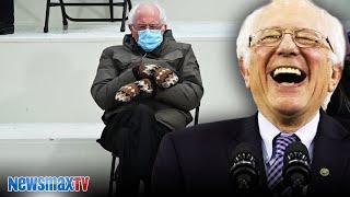 Bernie capitalizes on viral inauguration moment