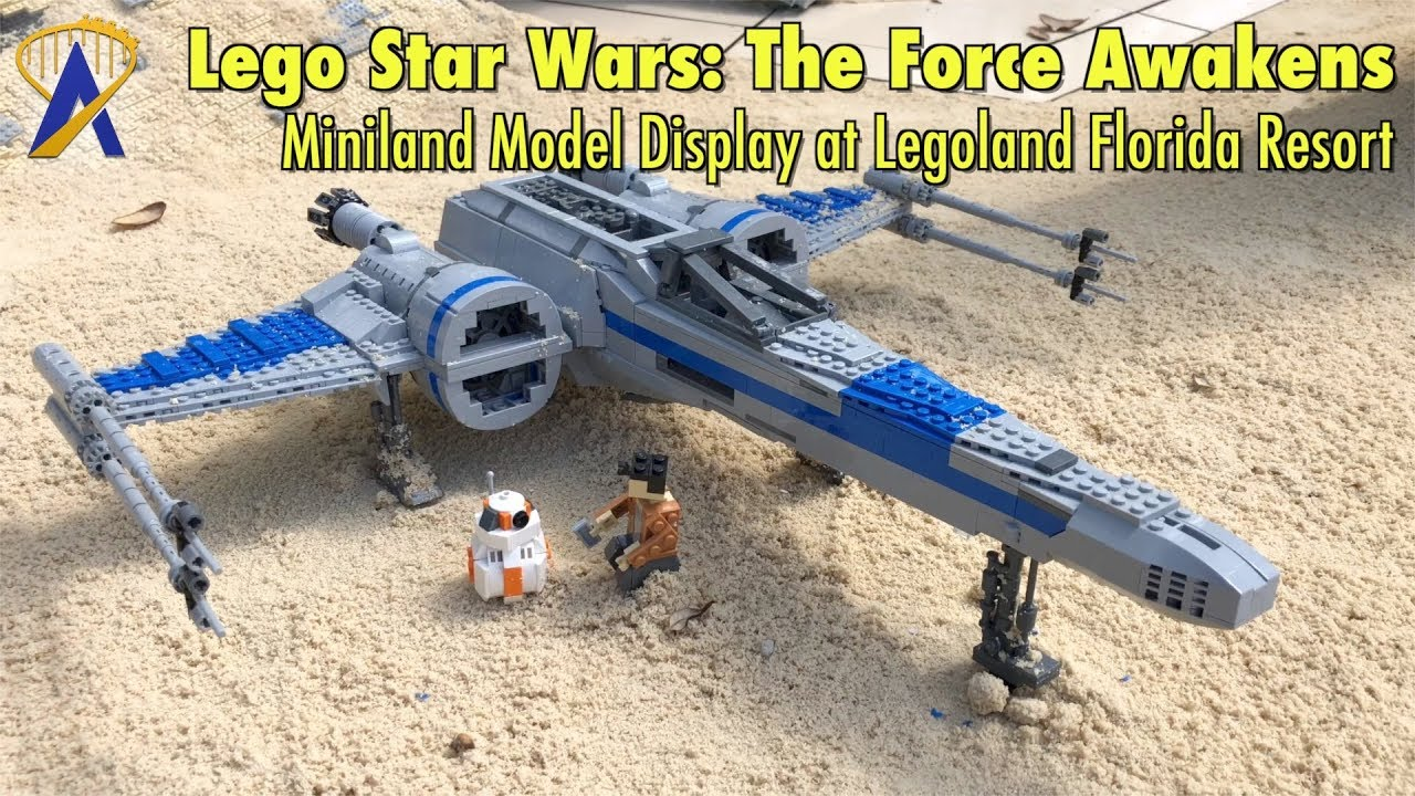 Lego Star Wars The Force Awakens Miniland Model Display At Legoland