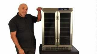 Edgestar 36 Bottle Built-in Dual Zone French Door Wine Cooler- Cwr361fd