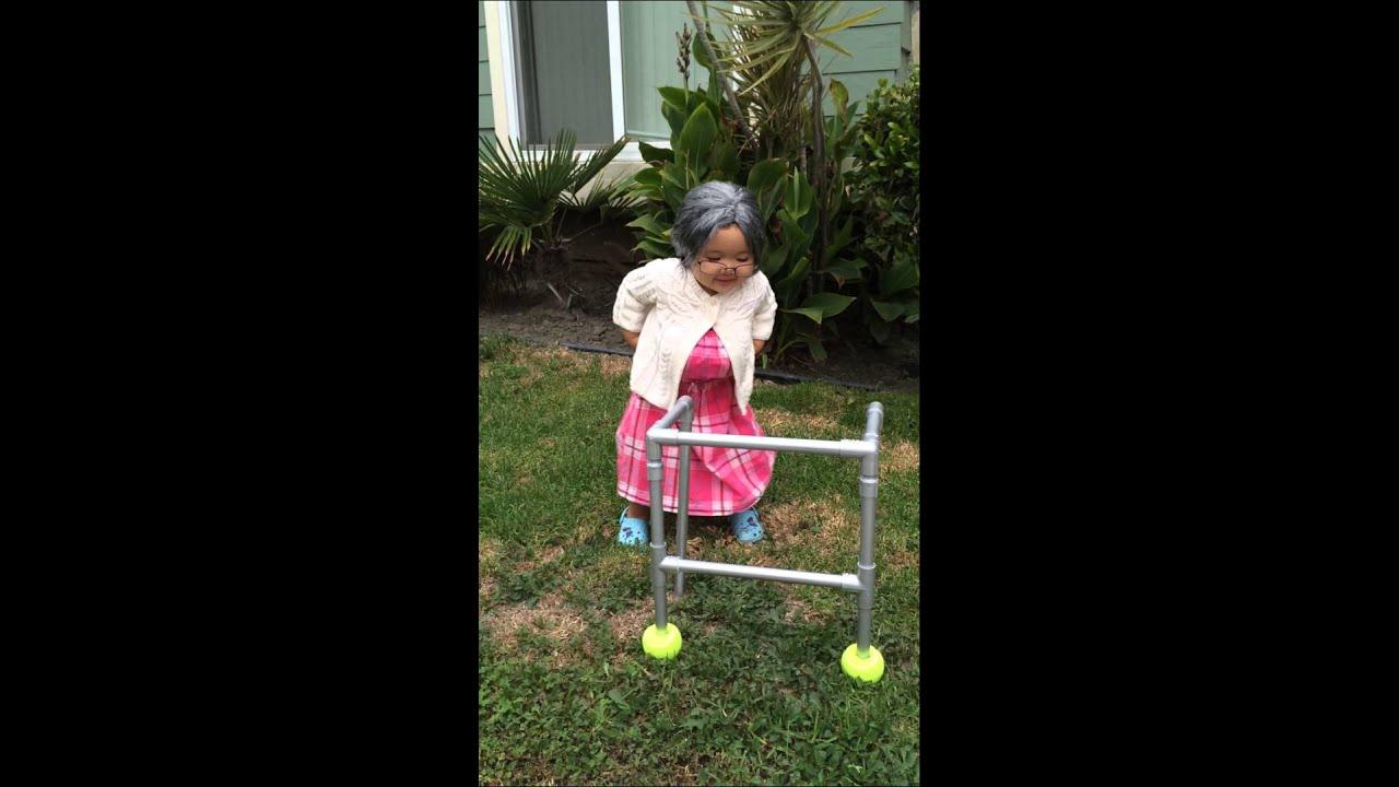 Old lady Halloween costume- Mia  sc 1 st  YouTube & Old lady Halloween costume- Mia - YouTube