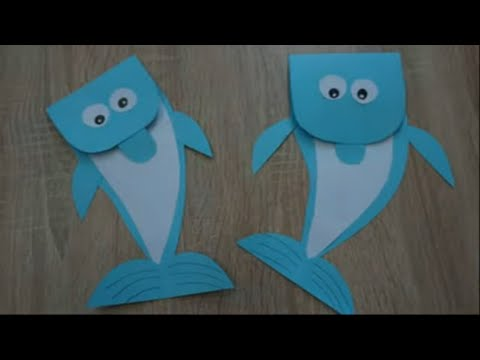 DIY Paper Dolphin for Kids - How to make a paper Dolphin ideas step