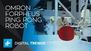 Omron Forpheus Ping Pong Robot at CES 2018