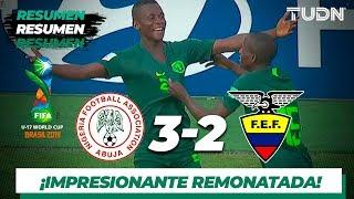 Resumen y Goles | Nigeria 3 - 2 Ecuador | Mundial Brasil Sub 17 - J 2 | TUDN