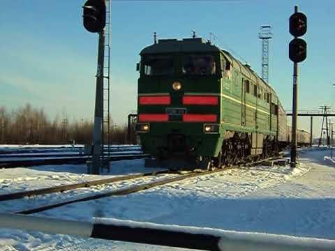 """""""Впервые снятый пригородный поезд!"""" 2ТЭ116-1113 с пригородным поездом Устье-Аха-Тавда."""
