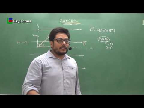 Helical Path Of Charge Particle In Magnetic Field | Magnetics | Class XII  | JEE | NEET