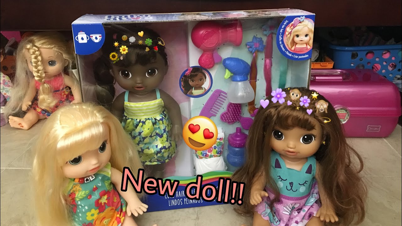 BABY ALIVE NEW African American cute hair styles doll.