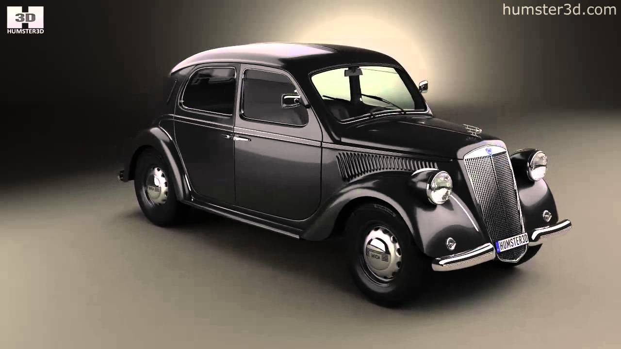 Lancia Ardea 1939 by 3D model store Humster3D.com - YouTube
