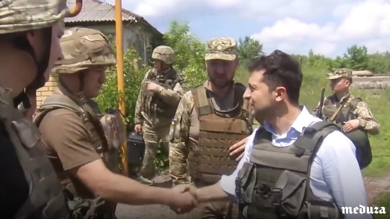 Зеленский-президент впервые побывал на Донбассе.