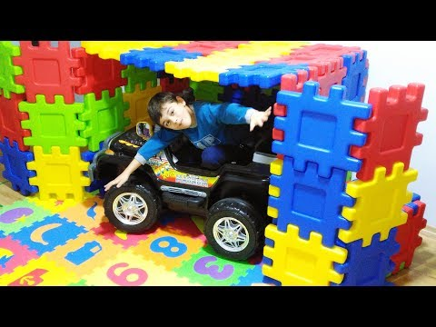 Magic Little Driver ride on Toy Cars and garage car for kids   Emir and dad made garage