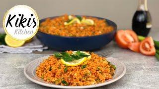 Kisir Rezept türkischer Bulgursalat | gesund, diättauglich und vegan | Kikis Kitchen